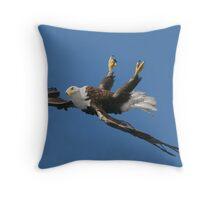 Mid Flight Flip Throw Pillow