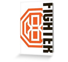 Octagon MMA Fighter Logo Greeting Card