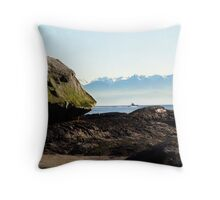 Boulder and a Boat Throw Pillow