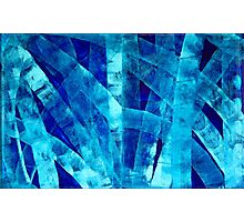 Blue Abstract Art - Paths - By Sharon Cummings Photographic Print