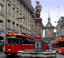 Trams in Bern - Switzerland by Arie Koene