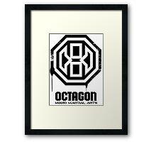 Octagon MMA Spray Logo (Black) Framed Print