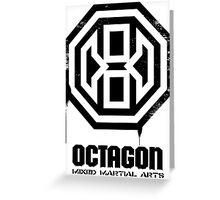 Octagon MMA Spray Logo (Black) Greeting Card