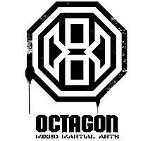 Octagon MMA Spray Logo (Black) Photographic Print