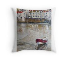 The Cod, Rose of England and Three White Vans, Staithes Throw Pillow