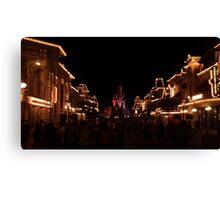 Main Street At Night Canvas Print