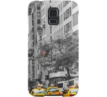 yellow cabs on 5th Ave with Stars and Stripes  Samsung Galaxy Case/Skin