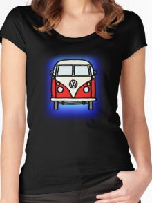 Red White Campervan Women's Fitted Scoop T-Shirt