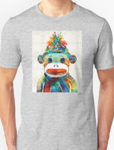 Sock Monkey Art - Your New Best Friend - By Sharon Cummings T-Shirt