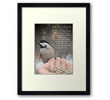 """""""Your Heavenly Father Feeds Them"""" Framed Print"""