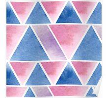 Triangular pattern Poster