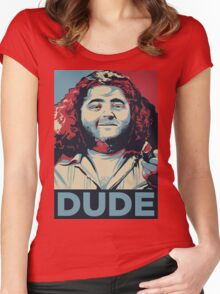 DUDE, It's Hurley Reyes from the TV show LOST Women's Fitted Scoop T-Shirt