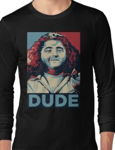 DUDE, It's Hurley Reyes from the TV show LOST Long Sleeve T-Shirt