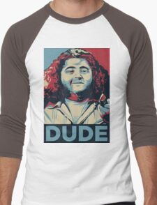 DUDE, It's Hurley Reyes from the TV show LOST Men's Baseball ¾ T-Shirt
