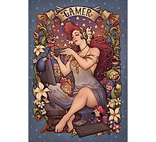 Gamer girl Nouveau Photographic Print
