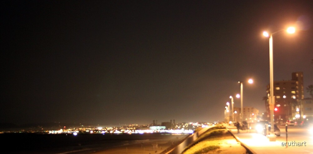 Redondo Beach California at Night 0401 by eruthart