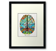 Colorful Brain Art - Just Think - By Sharon Cummings Framed Print