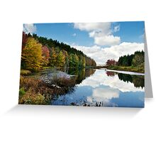 Beautiful Autumn Reflection Landscape Greeting Card
