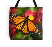 Orange Drift Monarch Butterfly Tote Bag
