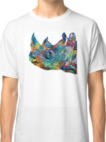 Rhino Rhinoceros Art - Looking Up - By Sharon Cummings Classic T-Shirt