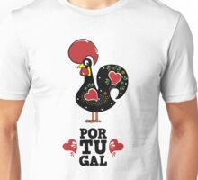 Portugal and Rooster Unisex T-Shirt