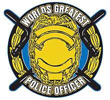 Worlds Greatest Police Officer Photographic Print