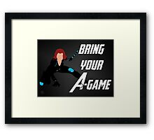Black Widow - Bring Your A-Game Framed Print