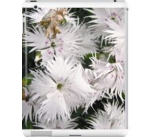 White Ragged Flowers - all products iPad Case/Skin