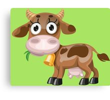 Little cow with bell  Canvas Print