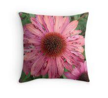 Pink Damage Throw Pillow