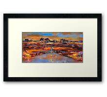 The land of Rock Towers Framed Print