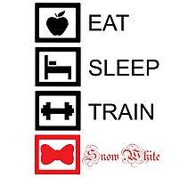 EAT. SLEEP. TRAIN. SNOW WHITE. - Princess workout collection Photographic Print