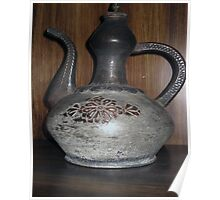 Turkish old  cooper jug with a long handle Poster
