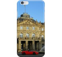 red sports car from Maranello in front of a castle iPhone Case/Skin