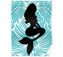 Disney Princess Ariel Fashion Silhouette Poster
