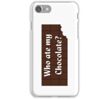 Who Ate My Chocolate iPhone Case - Galaxy Phone Cover iPhone Case/Skin
