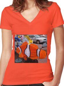 Nemo Women's Fitted V-Neck T-Shirt