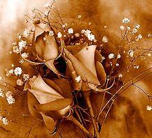 Bouquet in Sepia by Dana Roper