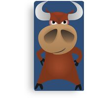 Serious strong bull Canvas Print