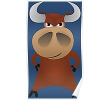 Serious strong bull Poster