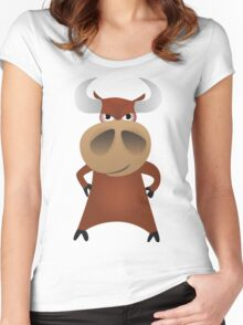 Serious strong bull Women's Fitted Scoop T-Shirt