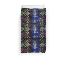 Purple geometric light art design Duvet Cover