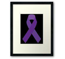 Cancer Awareness Ribbon Framed Print