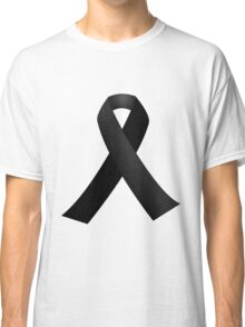 Black Ribbon Classic T-Shirt