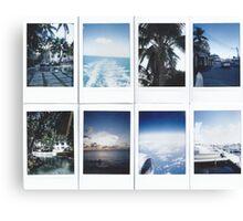 Polaroids of Grand Cayman Canvas Print