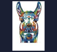 Colorful Llama Art - The Prince - By Sharon Cummings Baby Tee