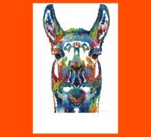 Colorful Llama Art - The Prince - By Sharon Cummings Kids Tee