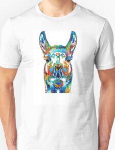 Colorful Llama Art - The Prince - By Sharon Cummings T-Shirt