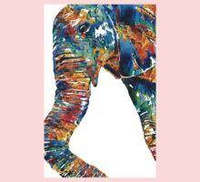 Colorful Elephant Art by Sharon Cummings Kids Tee