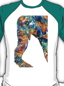 Colorful Elephant Art by Sharon Cummings T-Shirt